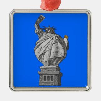 Funny statue of liberty metal ornament