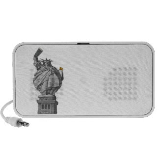 Funny statue of liberty mini speakers