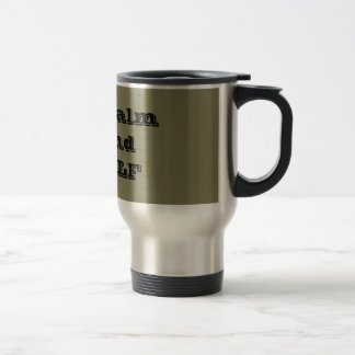 Funny Stay Calm and GOLF Quote Travel Mug