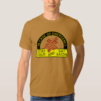 Funny Stay Calm, Eat Bacon Shirt