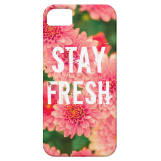 Funny stay fresh quote slogan hipster humor flower iPhone SE/5/5s case