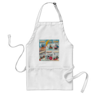 funny steampunk air machines wacky inventions adult apron