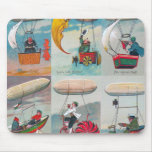 funny steampunk air machines wacky inventions mouse pad