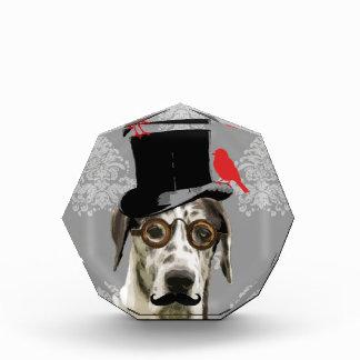Funny steampunk dog acrylic award