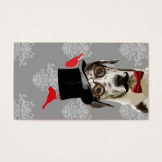 Funny steampunk dog business card