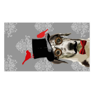 Funny steampunk dog Double-Sided standard business cards (Pack of 100)