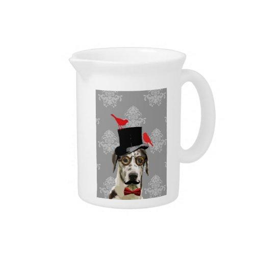 Funny steampunk dog drink pitchers