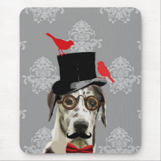 Funny steampunk dog mouse pad