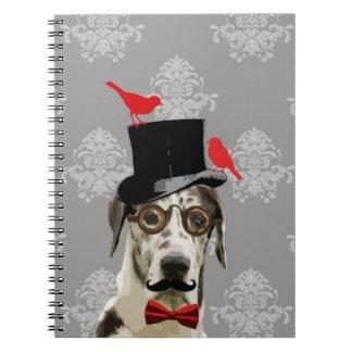Funny steampunk dog notebooks
