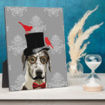 Funny steampunk dog plaque