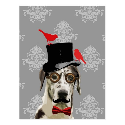 Funny steampunk dog postcards