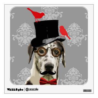 Funny steampunk dog wall decal