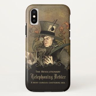 Funny Steampunk Mad Hatter Custom iPhone X Case
