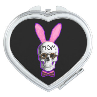 Funny steampunk mothers day compact mirror