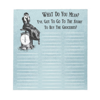 Funny Steampunk Shopping List Notepad