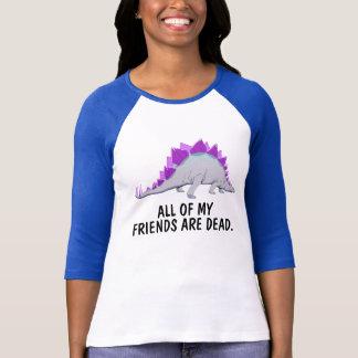 Funny Stegasaurus raglan Shirt