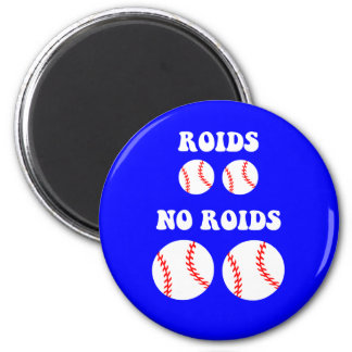 Funny steroids baseball 2 inch round magnet