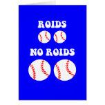Funny steroids baseball card