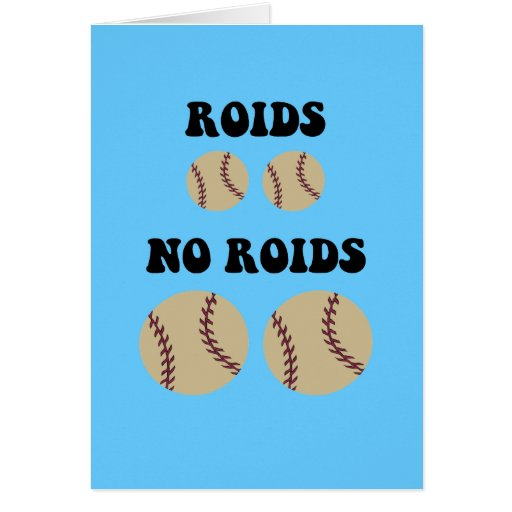 Funny steroids baseball greeting cards