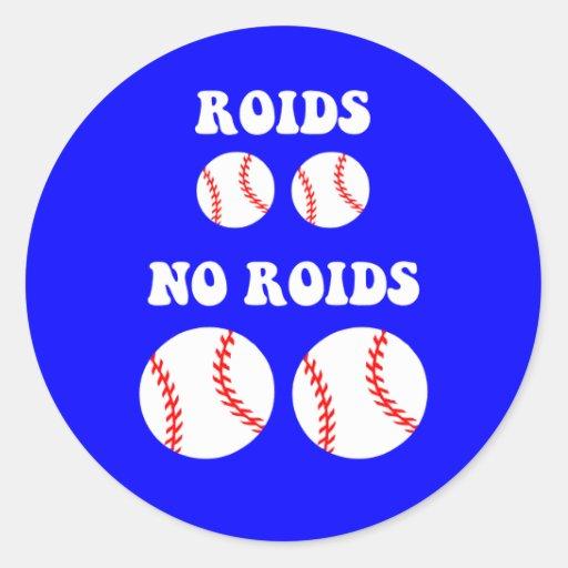 Funny steroids baseball classic round sticker