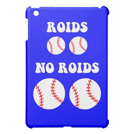 Funny steroids baseball iPad mini cover