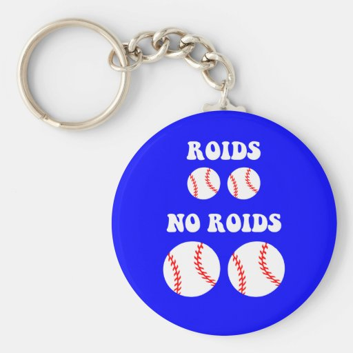 Funny steroids baseball key chains