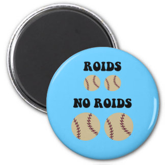 Funny steroids baseball magnet