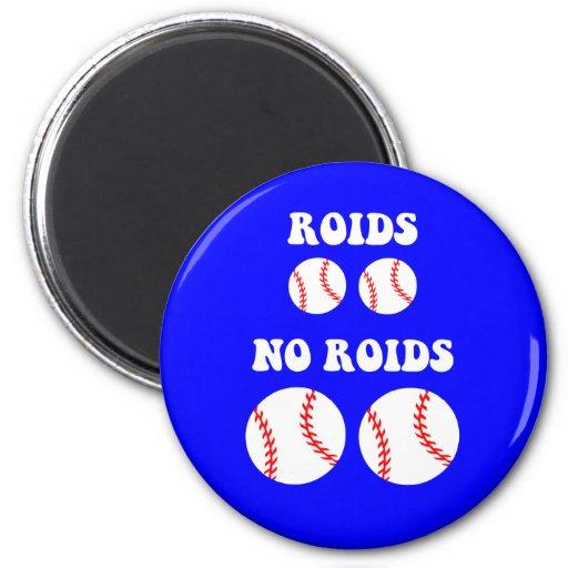 Funny steroids baseball refrigerator magnet