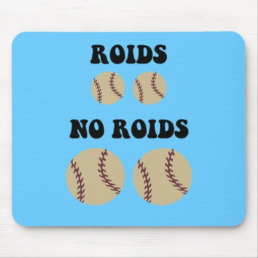 Funny steroids baseball mouse pad