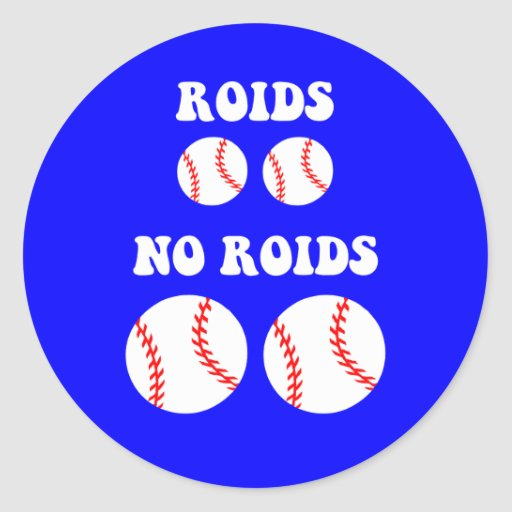 Funny steroids baseball stickers
