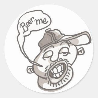 Funny Stewdent Drinking Gear Round Sticker