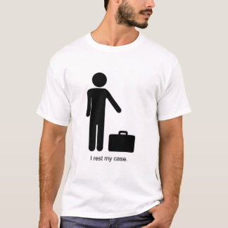 Funny Stick-Figure and Briefcase T-Shirt
