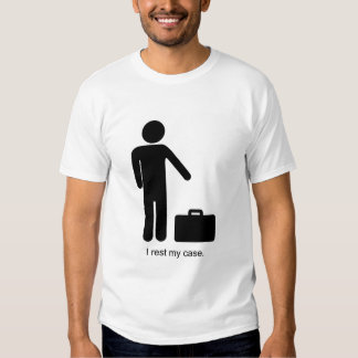 Funny Stick-Figure and Briefcase Tee Shirt