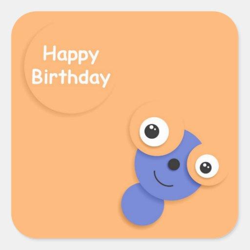 Funny Sticker Happy Birthday.