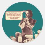 Funny Stickers - Retro Mom Sleepytime Cake