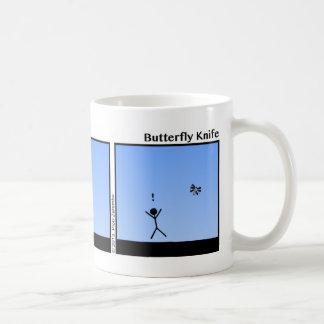 Funny Stickman Butterfly Knife Mug