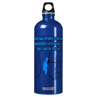 Funny stickman slogan aluminum water bottle