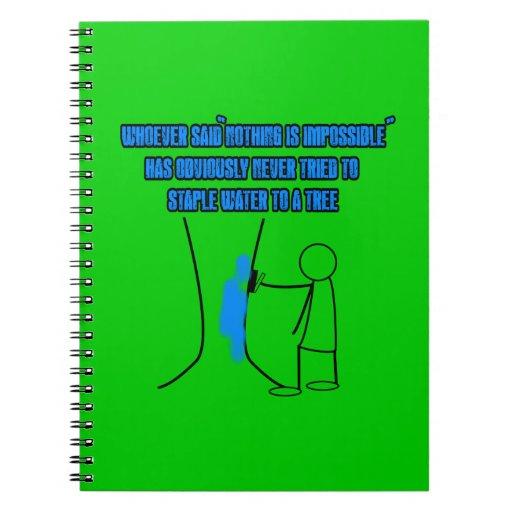 Funny stickman slogan notebooks