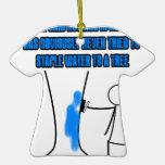 Funny stickman slogan ornament