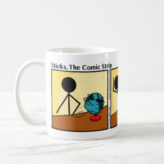 Funny Stickman Spin The Globe Mug
