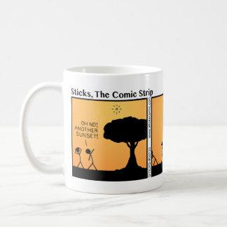 Funny Stickman Sunset Mug