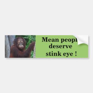 Funny Stink Eye Bumper Stickers