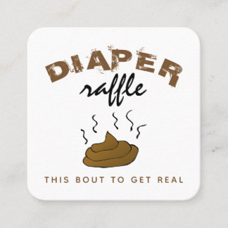 Funny Stinky Poop Diaper Raffle Invitation Inserts
