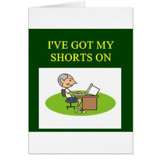 funny stock market joke greeting card