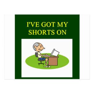 funny stock market joke postcard