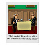 Funny Stock Market Poster
