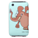 funny stomping elephant cartoon iPhone 3 tough case