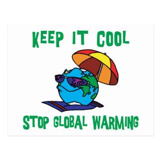 Funny Stop Global Warming Gift Postcard