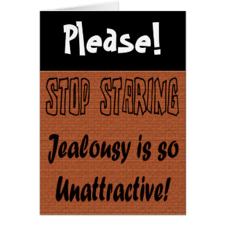 Funny Stop Staring T-shirts Gifts Card