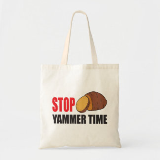FUNNY STOP YAMMER TIME TOTE BAG | VEGETABLE YAM
